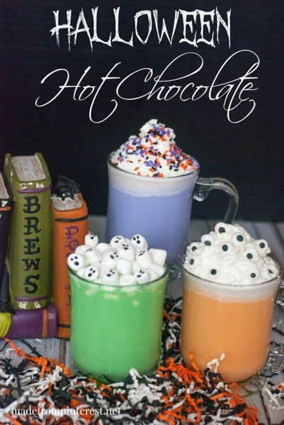 Halloween Hot Drinks For Kids these are awesome colors and so much fun just what you need for Halloween.