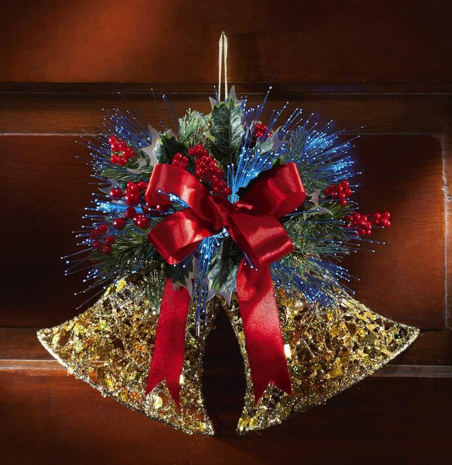Fiber Optic Jingle Bells Holiday Wall Decor