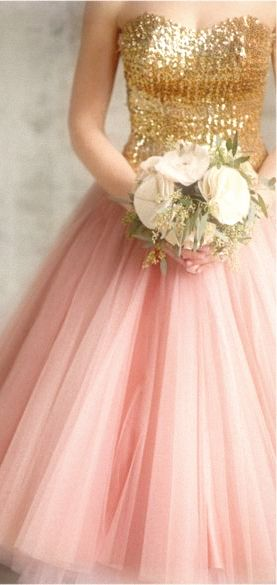 Princess Gown Pink and Gold