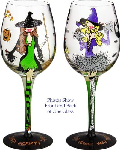 Hallowine Handpainted Wine Glass