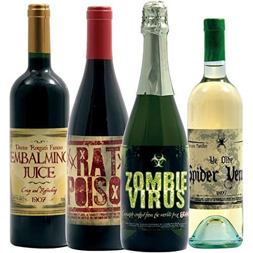 Halloween Wine Bottle Stickers