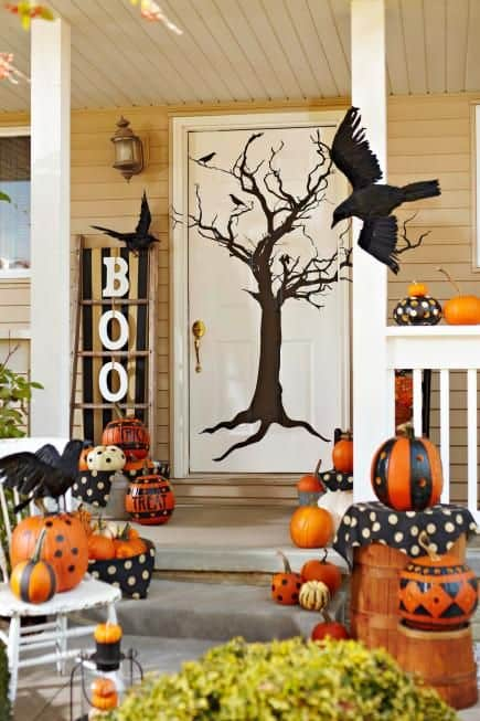 Trick or Treat this front porch sure looks great, do you think so?