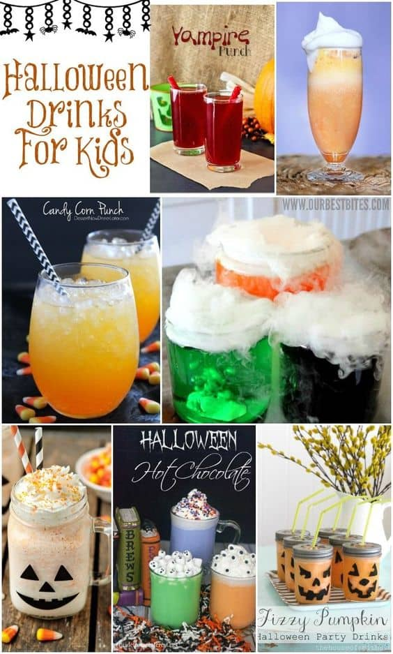 14 Spooky Halloween Food & Drink Ideas. What a great idea to get the kids involved in making these Halloween Drinks.
