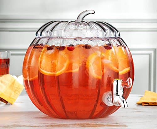 Glass Pumpkin Drink Dispenser