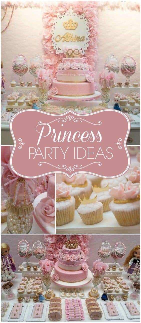 Some gorgeous party inspiration ideas to help with your Pink and Gold Princess Birthday Party
