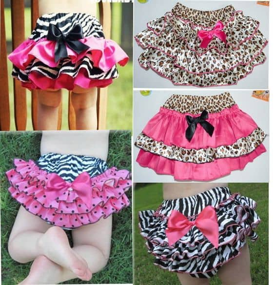 DIY Animal Print, Girl Baby Clothing - ruffle butt so easy to make yourself