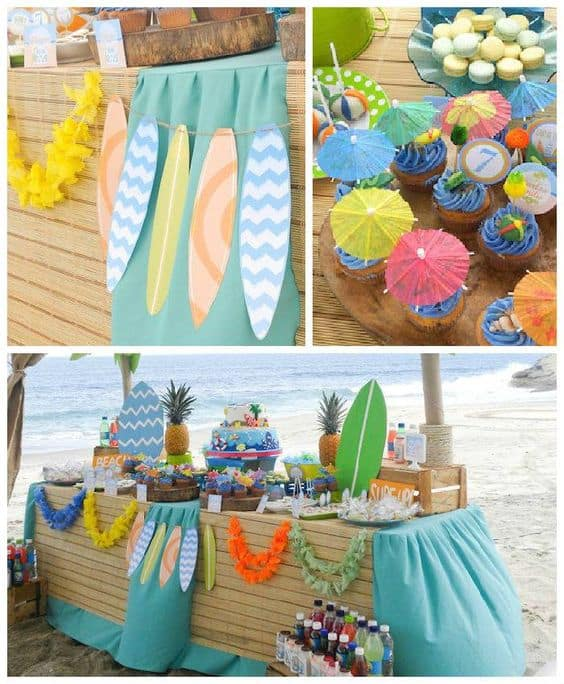 beach themed kids party