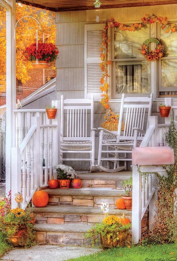 Front Porch Halloween Decoration Ideas February 2018