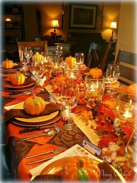 Elegant and Simple Thanksgiving Table Setting Ideas that you can do yourself