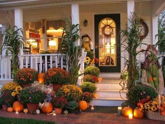 Light up your porch to give that spooky but classy feel, love it.