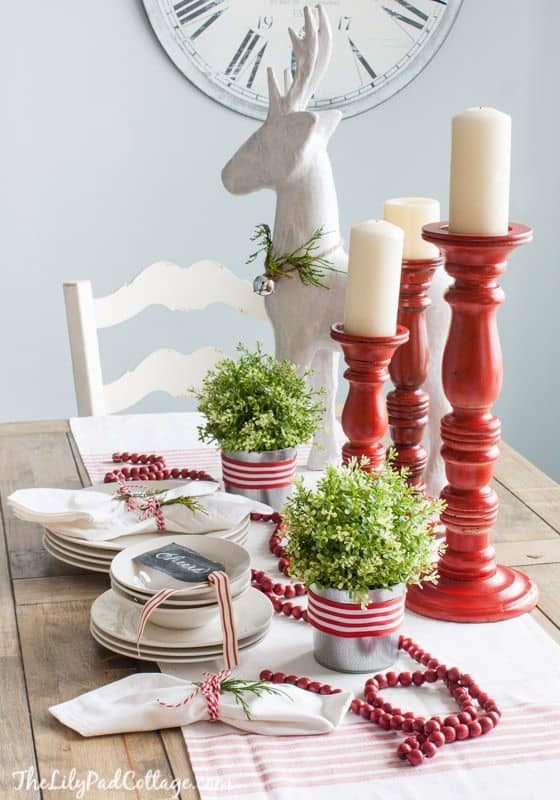 Some quick ideas for a red and white theme this Christmas