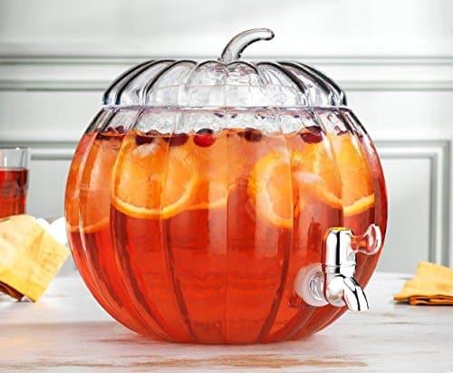 Glass Pumpkin Drink Dispenser