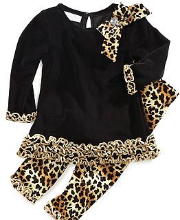 Baby Girl Clothes.....so adorable :) Animal Print pants and top.