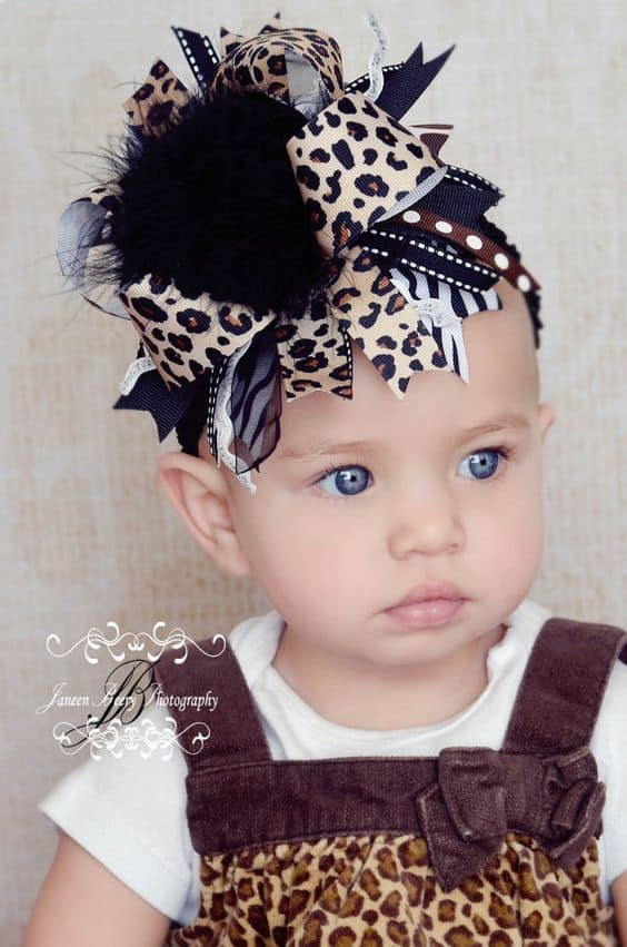 Just Divine Animal Print Bow you can make very easily
