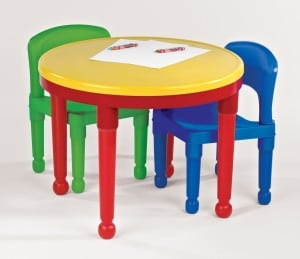 tot tutor table primary colors