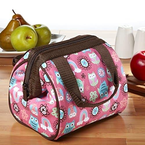 Insulated Lunch Bag, Rainbow Owl