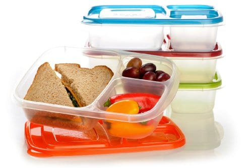 EasyLunchboxes 3-Compartment Bento Lunch Box Containers