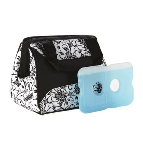 Ladies Insulated Lunch Bag black and white