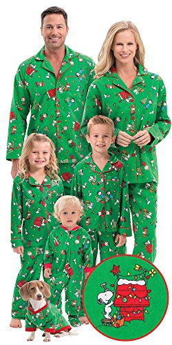 Flannel Charlie Brown Matching Christmas Pajamas for the Whole Family