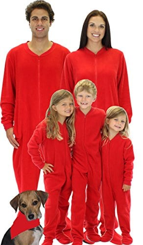SleepytimePjs Kids Red Footed One Piece Pajamas