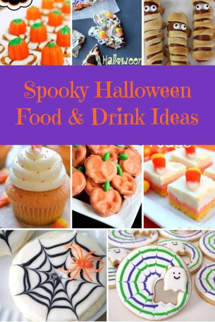 Yummy, Easy, Spooktacular Halloween Food & Drink Ideas for any party! Kids can help to make these as well.