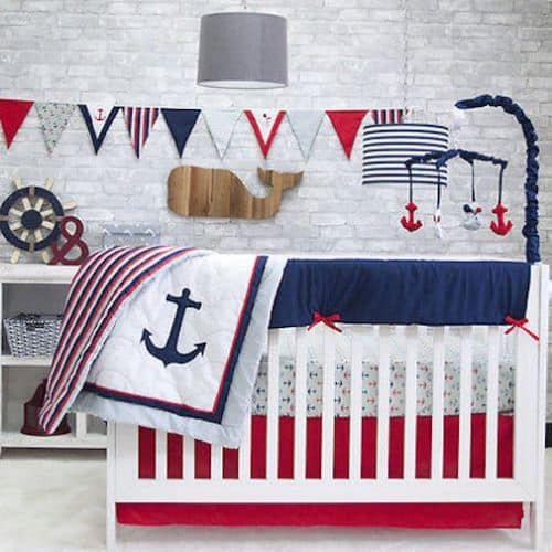 Nautical Cribb Bedding Set it is very modern