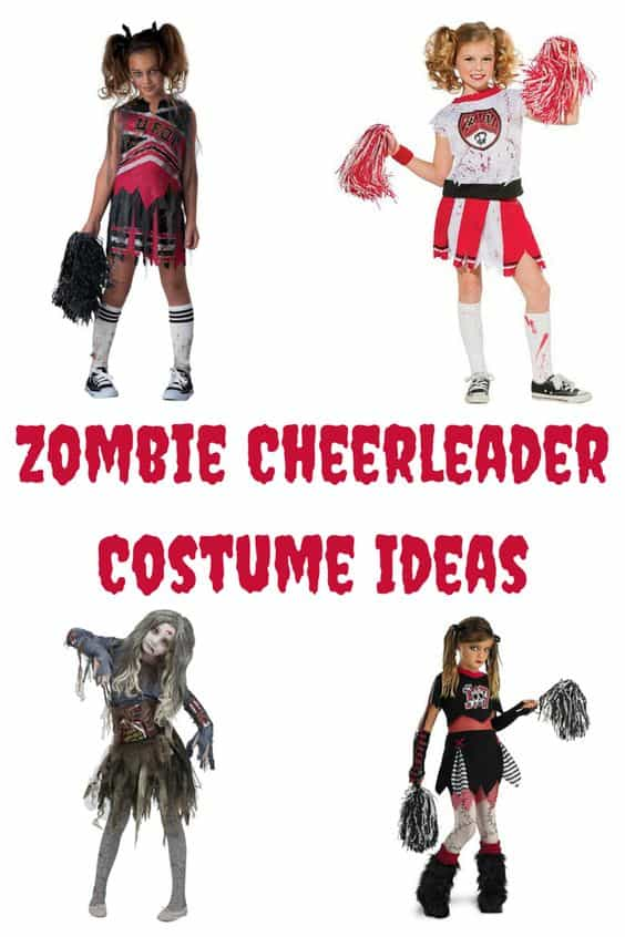 Here are a few different Zombie Cheerleader Costume Ideas for you. You will ROCK these costumes.