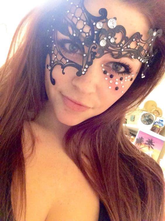 Half Phantom Venetian Masquerade Mask.