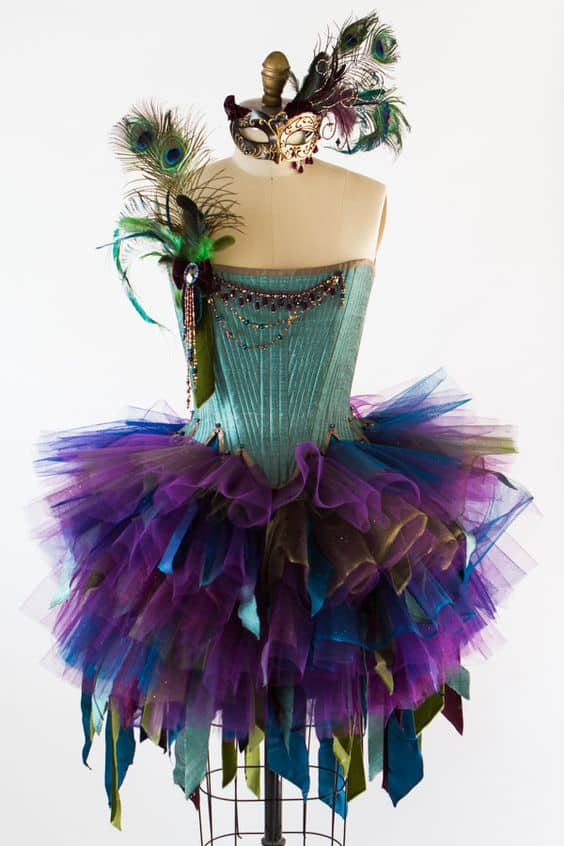 This Peacock Masquerade Costume is just Stunning