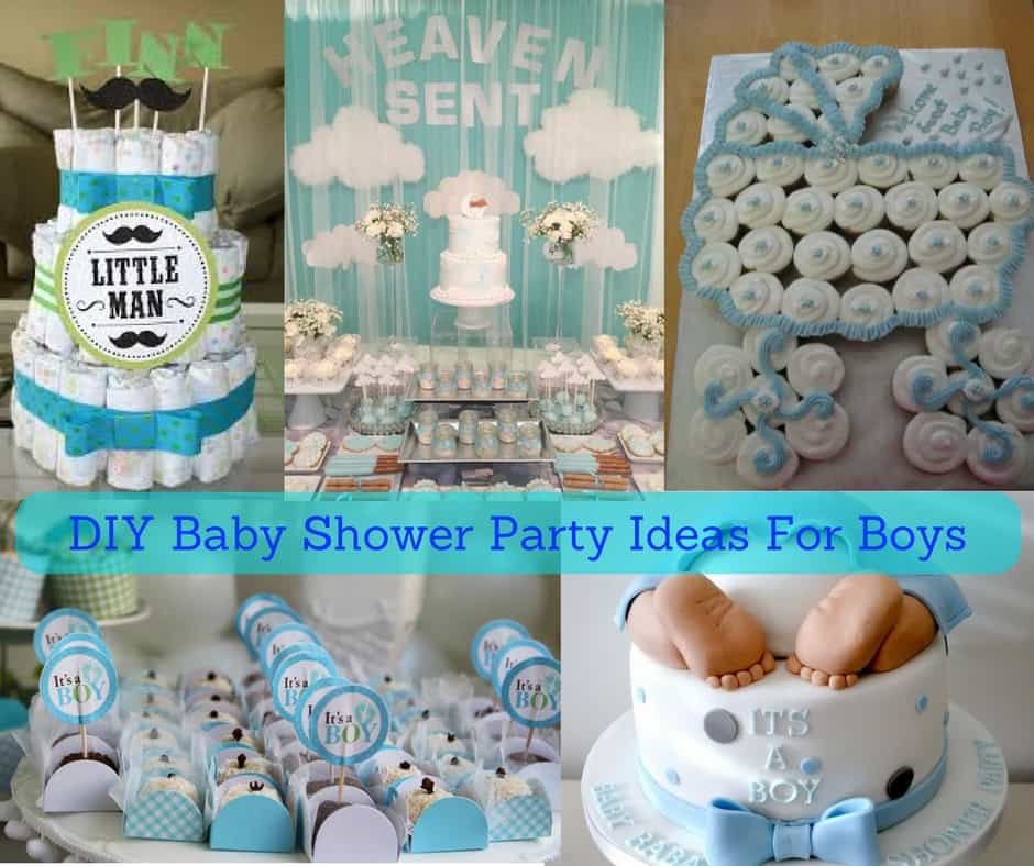 Diy birthday decorations for baby boy image inspiration for Baby shower party decoration ideas