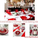 Red and White Christmas Table Setting Ideas