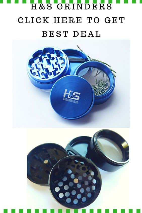 H&S Grinders- Blue or Black Herb Grinders