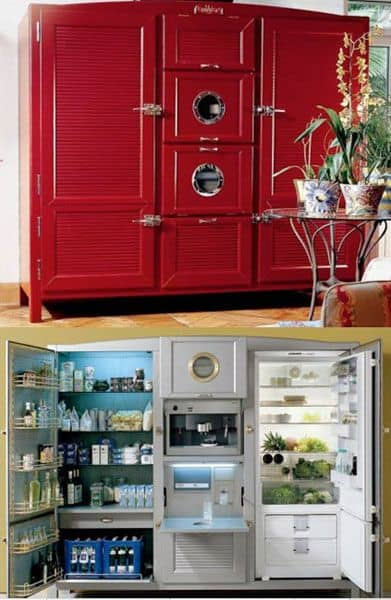 The Ultimate Fridge comes in Barn Red