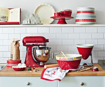 Add some colorful appliances to your kitchen to add a completely different feel