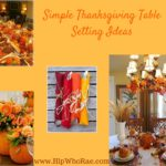 Simple Thanksgiving Table Setting Ideas