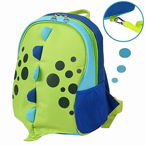 Kids Insulated Toddler Backpack with Safety Harness Leash and Name Label