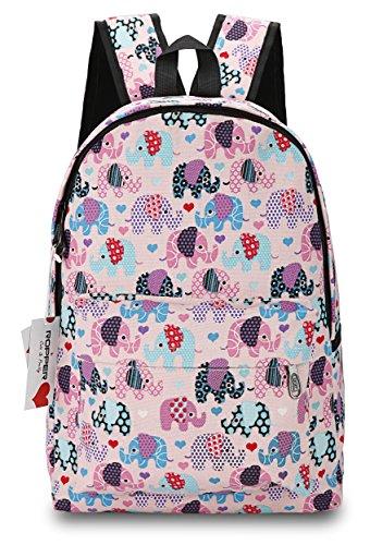 Ropper Lightweight Canvas Cute Pattern Kids School Backpack,15