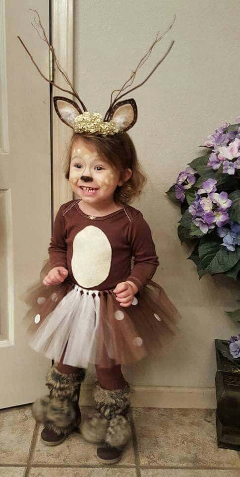 DIY Cutest Deer Costume Ever and So Very Simple To Make