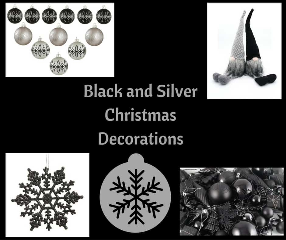 Black and silver christmas decorations hip who rae - Black and silver christmas ...