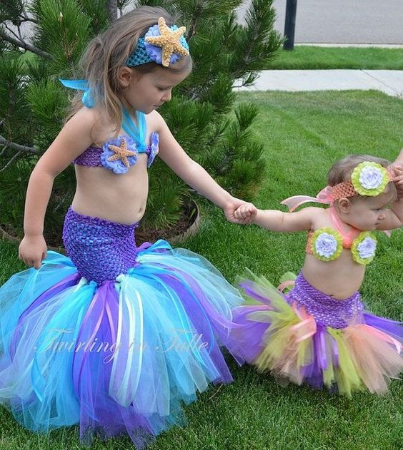 DIY Little Mermaid Halloween Costumes for Baby