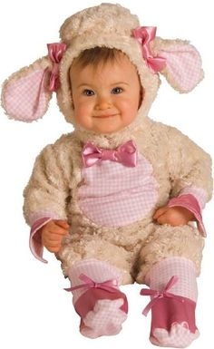 Pink Lamb Infant Costume perfect for Halloween and could be used for those colder months as well