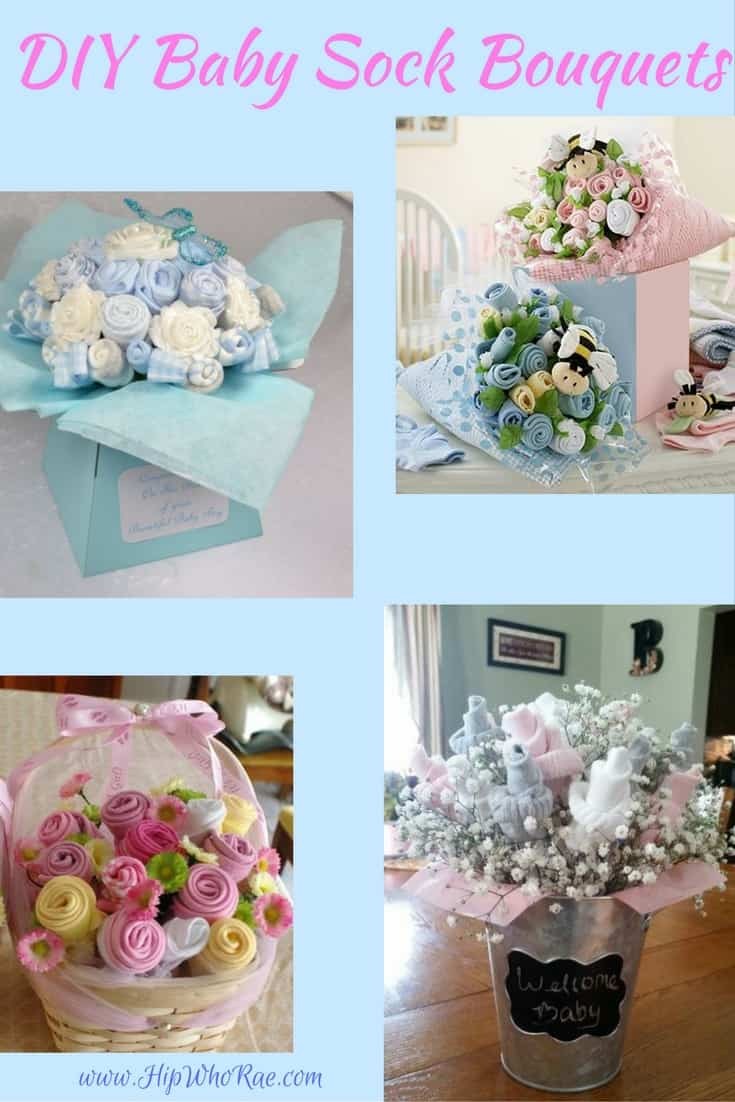 Easy DIY Baby Sock Flower Bouquets which look amazing and your friends will love them
