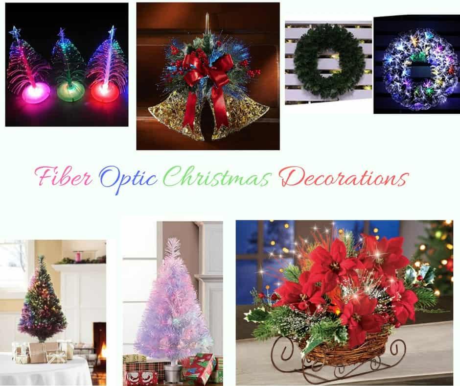 Fiber Optic Poinsettia Christmas Tree