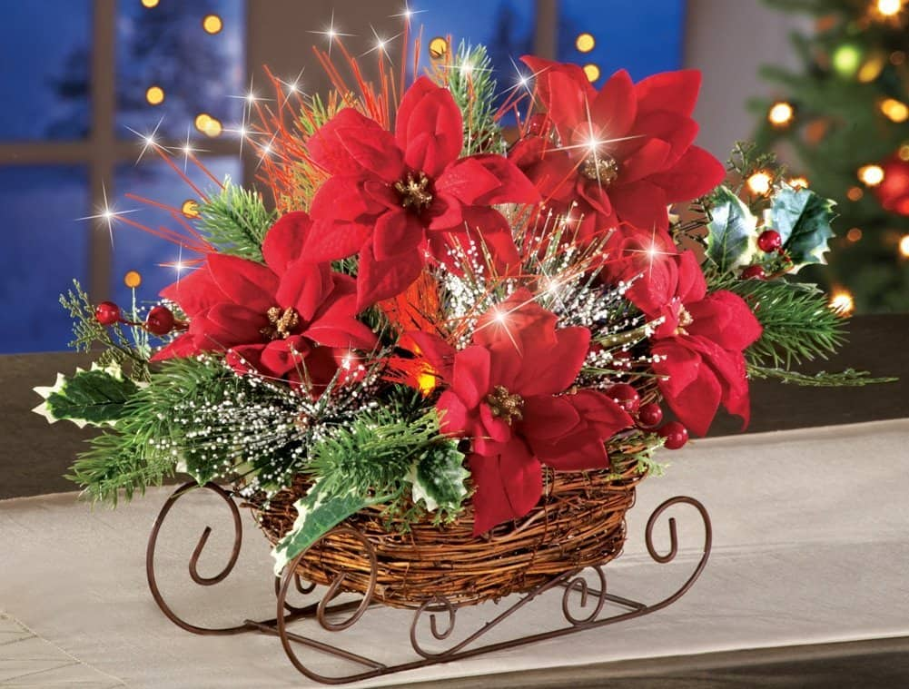 Fiber Optic Sleigh Table Centerpiece