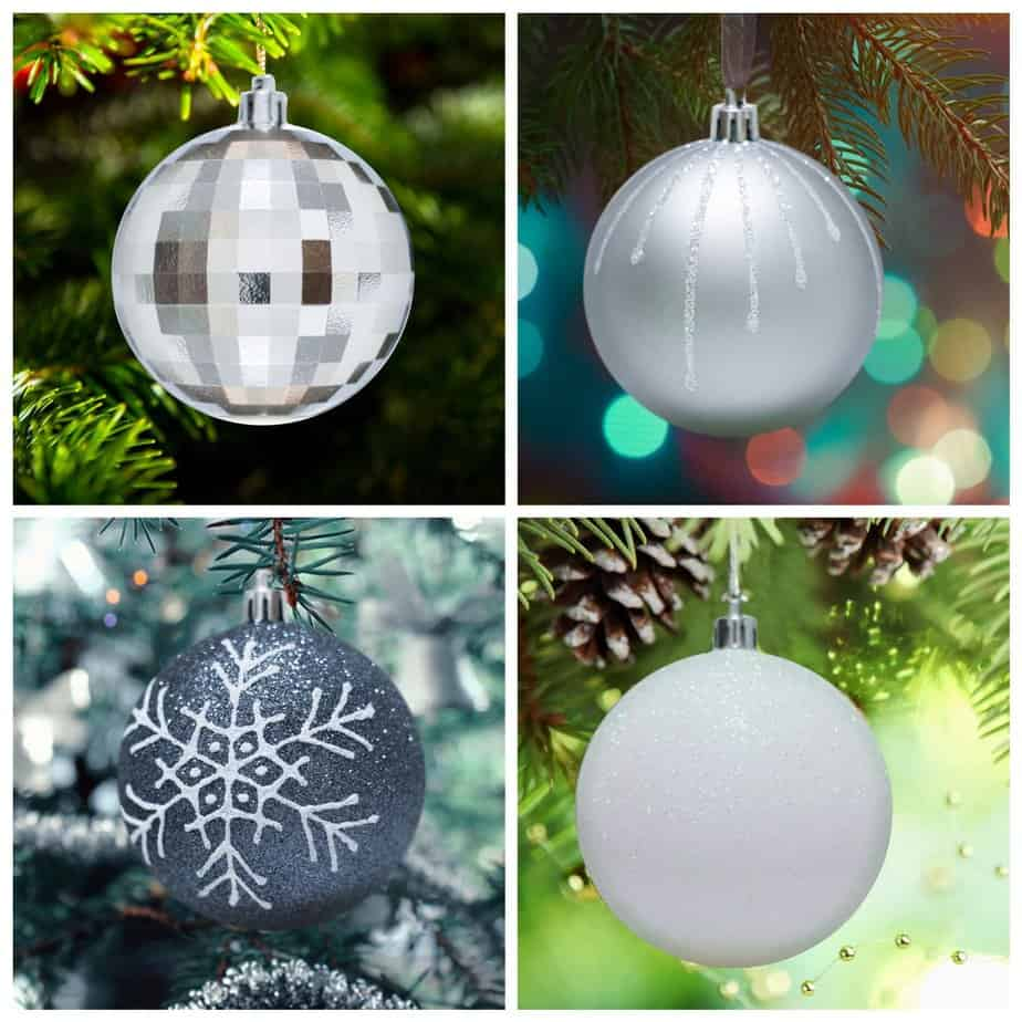 Gorgeous Black and Silver Baubles for your Christmas Tree