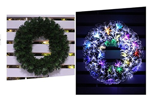 Fiber Optic Wreath