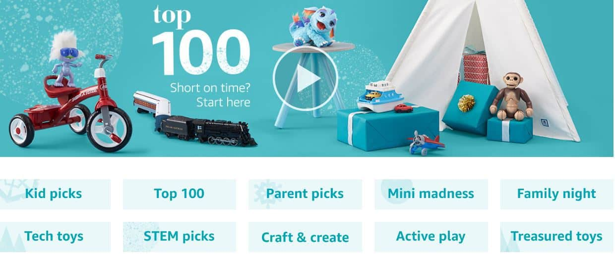 Top 100 picks of Christmas toys on Amazon