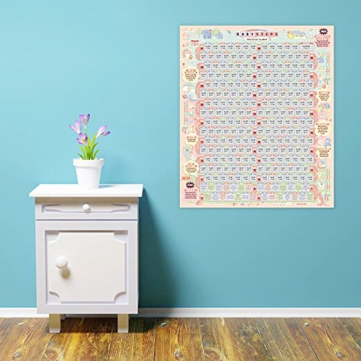 Pregnancy wall Calendar of all the Baby Steps along the way of being pregnant
