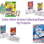 Color Alive Action Coloring Pages by Crayola