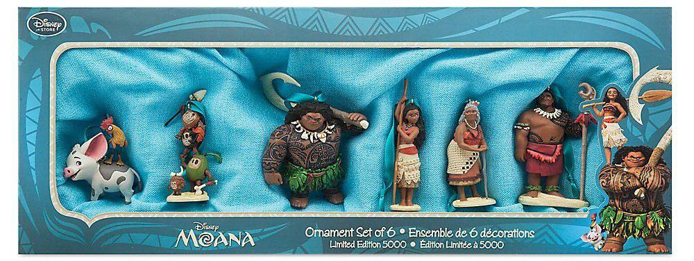 Disney Moana Ornament Set Limited Edition